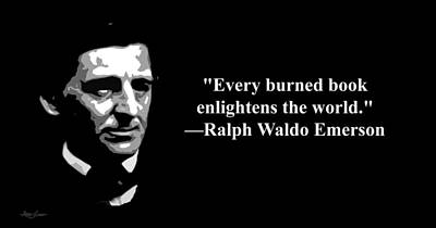 Ralph Waldo Emerson On Censorship  Art Print