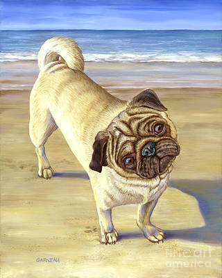Dogs On Beach Painting - Ralphie by Catherine Garneau