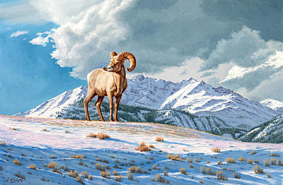 Ram Painting - Ram And Electric Peak by Paul Krapf