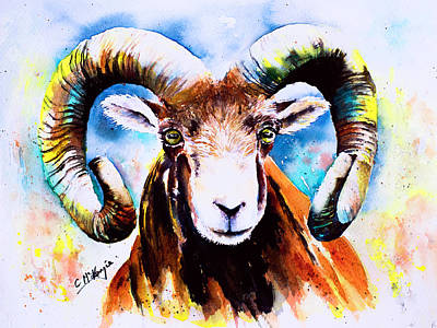 Wall Art - Painting - Ram-beau by Carrie McKenzie