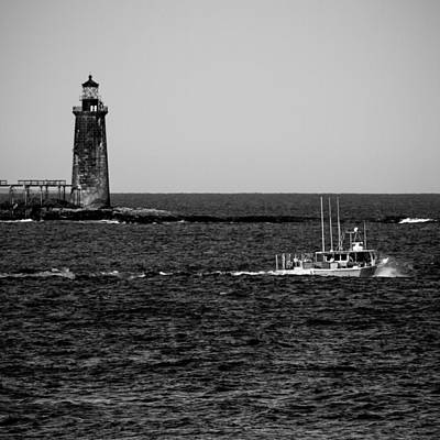 Photograph - Ram Island Ledge Light by Robert Clifford