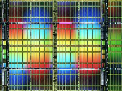 Ic Photograph - Ram Random Access Memory Chip by Alfred Pasieka