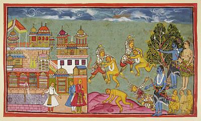 Rama Shoots Bali Art Print by British Library