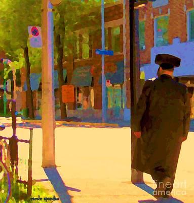 Jewish Montreal Painting - Ramacieri Soligo Building Supplies Rue Van Horne Outremont Montreal Street Scene Art Carole Spandau by Carole Spandau