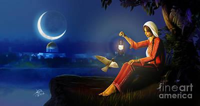 Ramadan Painting - Ramadan by Imad Abu shtayyah