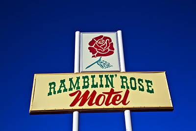 Ramblin' Rose Motel Art Print