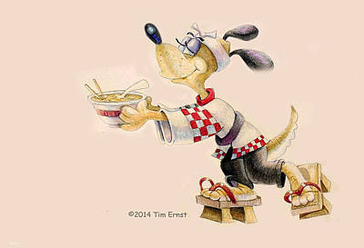 Drawing - Ramen Hound by Tim Ernst