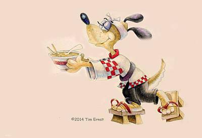 Drawing - Ramen Hound by Tim Ernst