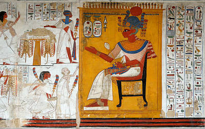 Photograph - Rameses II In A Egyptian Wall Painting Of Temple Of Beit El-wali by RicardMN Photography