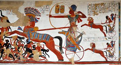 Ramesses II In Battle Art Print by RicardMN Photography