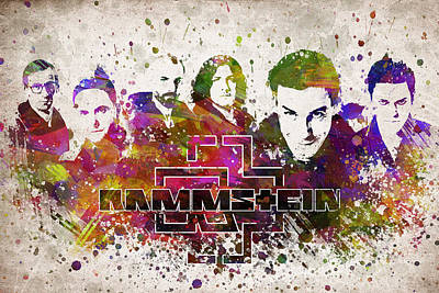 Musicians Royalty-Free and Rights-Managed Images - Rammstein in Color by Aged Pixel