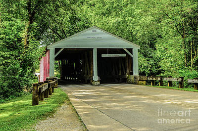 Photograph - Ramp Creek Covered Bridge by Mary Carol Story