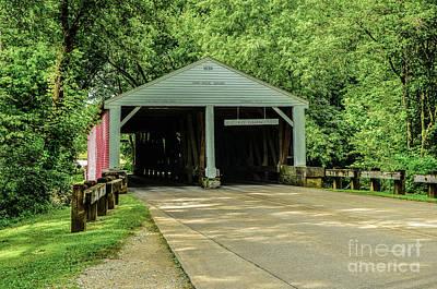 Photograph - Ramp Creek Covered Bridge by Mary Carol Story
