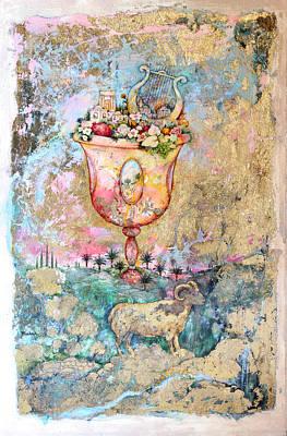 Shofar Painting - Rams Horn by Michoel Muchnik