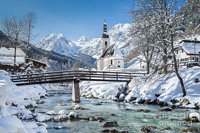 Ramsau In Winter Art Print