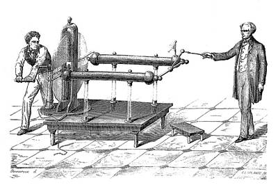 Ramsden Electrostatic Generator Art Print
