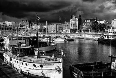 Port Kent Photograph - Ramsgate Harbour Mono by Ian Hufton