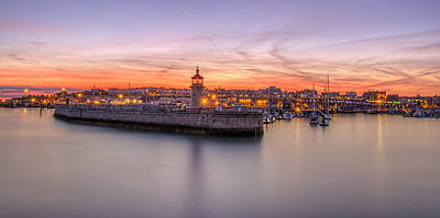 Ramsgate Harbour Summer Sunset  Art Print