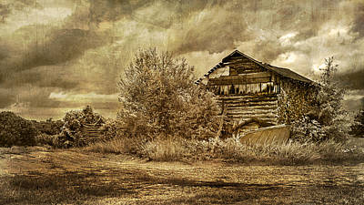 Photograph - Ramshacled Tobacco Barn by Lisa and Norman  Hall