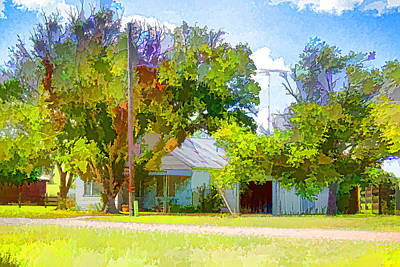 Ranch House Painting Original by Linda Phelps