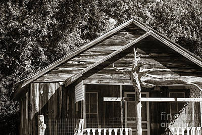 Photograph - Ranch House Very Old In Antique Sepia 3011.01 by M K Miller