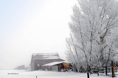 Ranch In Frozen Fog Art Print