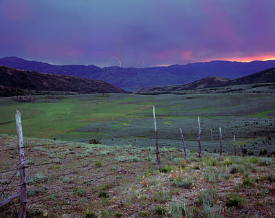 Caribou Photograph - Ranch Land by Leland D Howard