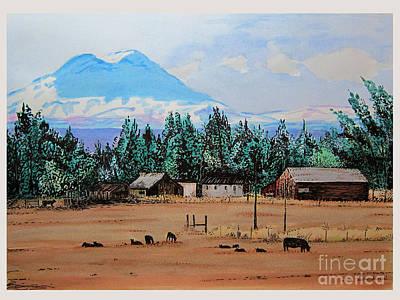 Ranch Near Sisters Oregon Art Print