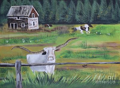 Ranch Art Print by Reba Baptist
