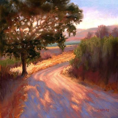 Lynee Sapere Wall Art - Pastel - Ranch Road by Lynee Sapere