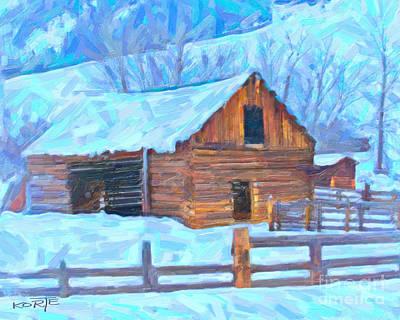 Shed Digital Art - Barn Ranch  by Ty Korte