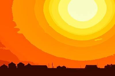 Photograph - Farmer's Sunset by Clarice  Lakota