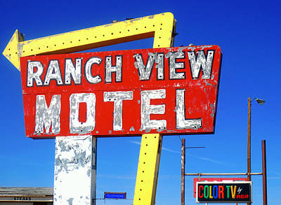 Photograph - Ranch View Motel by Gia Marie Houck