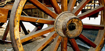 Ranch Wagon Wheel Detail Art Print by Barbara Snyder