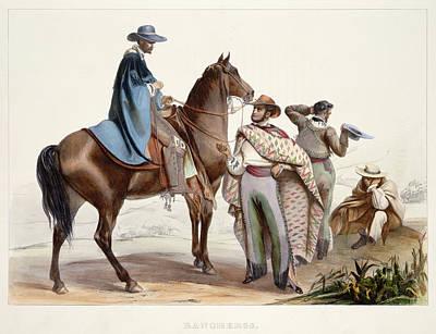 Mexican Cowboy Photograph - Rancheros by British Library