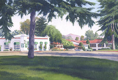Rancho Santa Fe Center Art Print by Mary Helmreich