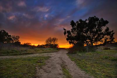Cardiff Photograph - Rancho Santa Fe Sunset by Larry Marshall
