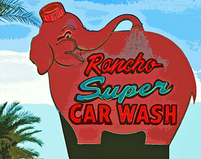 Car Wash Photograph - Rancho Super Car Wash by Charlette Miller