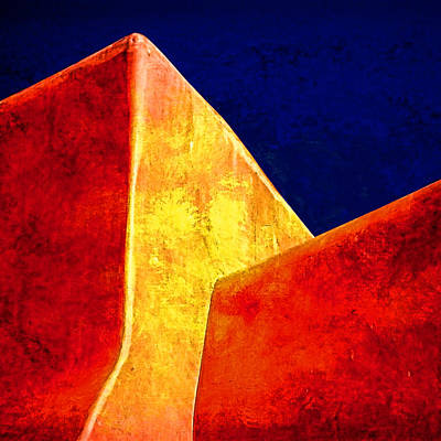 Taos New Mexico Photograph - Ranchos In Orange And Yellow by Carol Leigh