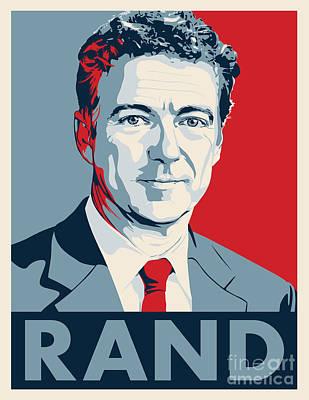 Libertarian Party Drawing - Rand Paul by John Lehman