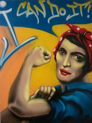 Ayn Rand Wall Art - Painting - Rand The Riveter by Defstar