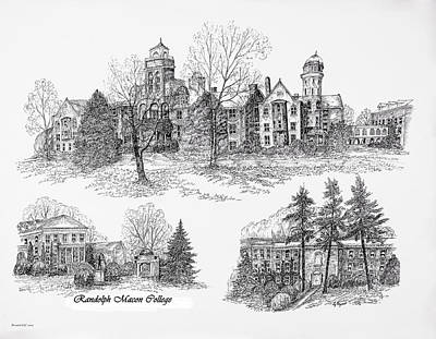 Randolph Macon College Art Print by Jessica Bryant