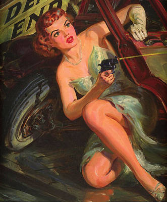 Pulp Magazines Painting - Random Cover. Vintage Pulp Fiction Paperback by Big 88 Artworks