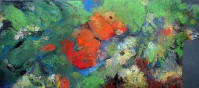 Pastel - Random Frieze With Dahlias by Anita Stoll