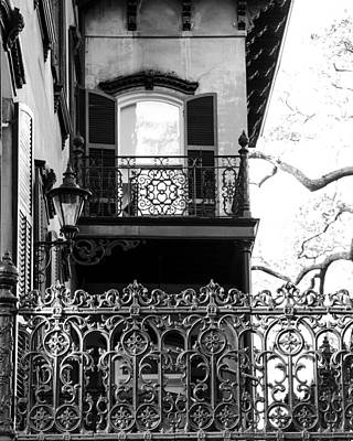 Antique Ironwork Photograph - Random Porch.savannah by Maria Suhr
