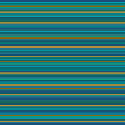 Digital Art - Random Stripes - Teal And Gold by Val Arie