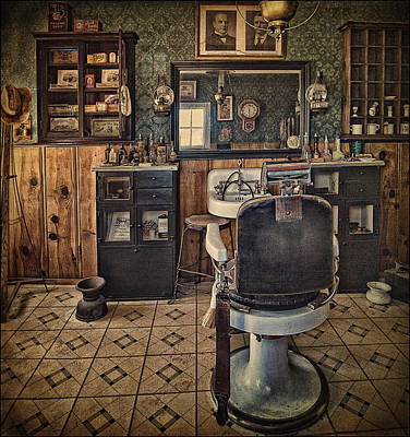 Randsburg Barber Shop Interior Art Print