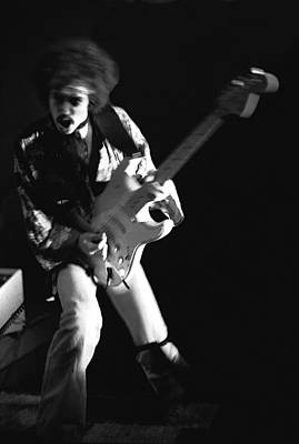 Photograph - Randy Hansen Rocking In 1978 by Ben Upham