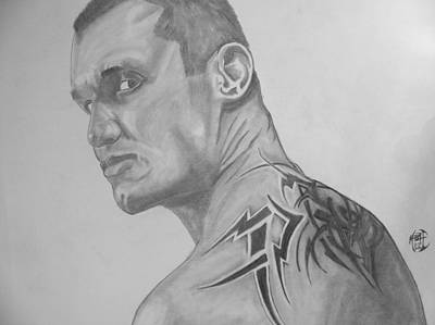 Art Print featuring the drawing Randy Orton by Justin Moore