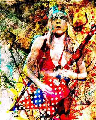 Randy Rhoads Painting - Randy Rhoads - Ozzy Osbourne by Ryan Rock Artist